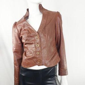 Vintage Paul Louis Brown Leather Jacket S